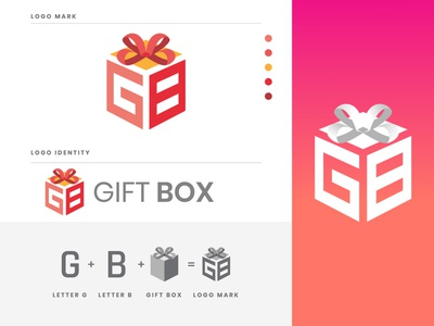 Gift Box logo design logodesigner logoconcept logomaker logoideas logodesigns creativelogo logocreation logoshift logotipos logo illustration design flat illustrator vector modern logo logo design icon branding