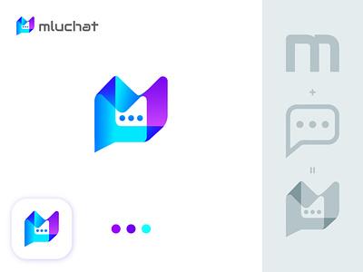 m+chat mluchat app icon design logomaker logoideas logodesigns creativelogo logocreation logoshift logotipos logo branding chat icon chat logo m modern logo chatbot chat snapchat logo modern logo brand logo design icon