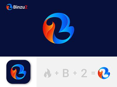 binzu2 logo design ux flat illustration minimal illustrator logocreation creativelogo logodesigns logoshift design vector logo logo designs brand branding modern logo logo design icon b letter logo b logo brand