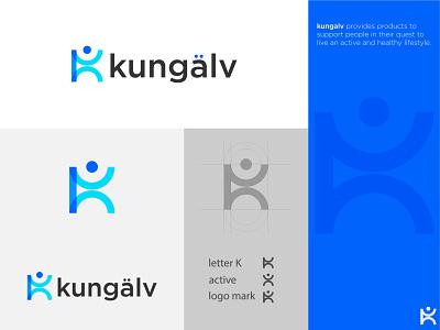 kungalv - Logo Design fitness modern logo remote kore core arrow logo gradient creative logo t h e q u i c k b r o w n f o x a b c d e f g h i j k l m n o p q r s t u v w x y z letter monogram monogram lettermark branding logo design connect active logo