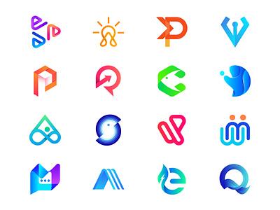 Logofolio - Fahim Khan 2021 logofolio logo logos creative logos startup gradient branding visual identity design logo mark symbol fresh logo hexagon logo star owl interact smart design