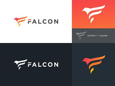Letter F + Falcon Bird - logo design logo logos logotype logomark logosymbol logotypes logoicon logodesign logodesigns logodesigner brand branding brand identity lettermark letter logo letter logo design bird icon bird logo modern logo
