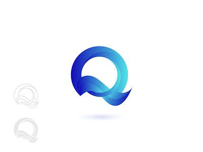 Q branding. brand symbol logo design logodesign geometric monochrome letter monogram type l logotype o lettermark gradient