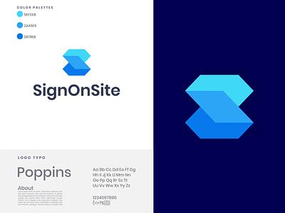 SignOnSite gradient logo nopqrst abcdefghijklm app logo creative designer creative logo s modern logo s logo 3d motion graphics graphic design illustration design vector logo brand icon logo design modern logo branding