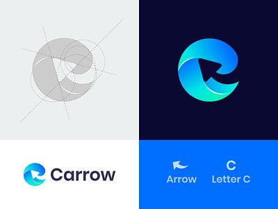 Carrow logocreation logodesigns creativelogo tech logo sketch mark symbol monogram logotype negative space arrow c letter vector design logo design brand logo icon modern logo branding