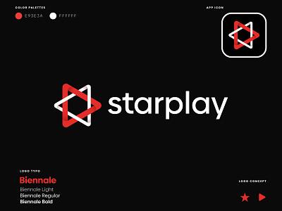 star play - Creative logo graphic design logotype logodesigner modernlogo logomaker minimallogo customlogo creativelogo minimalistlogo uniquelogo star play design icon logo modern logo branding logo design