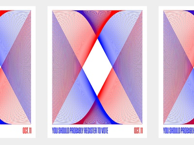 You Should Probably Vote hillary clinton print poster shapes lines blend imwither 2016 election vote