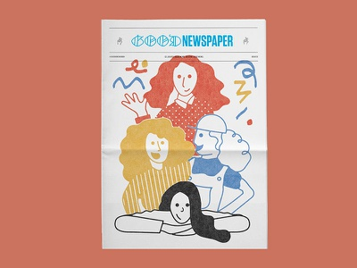 Goodnewspaper #04 illustration girls women paper newsprint newspaper goodnewspaper