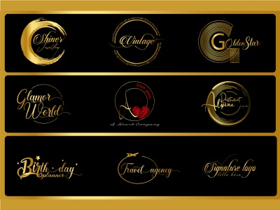 creative signature logo design minimal word mark logo letter mark logo handdrawn watercolor retro vintage creative logo creative branding brand signature logo signature logo