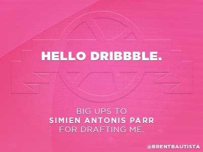 Hello Dribble. drafted first shot