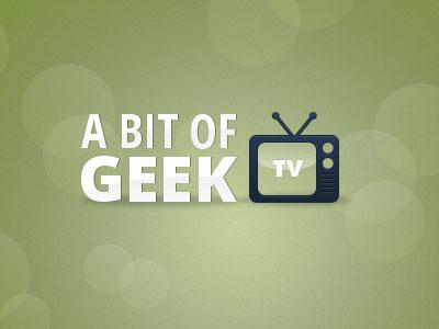 A Bit of Geek TV tv icon logo channel design