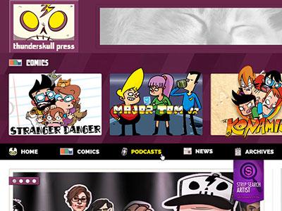 Thunderskull Press Site homepage comic artist strip search comics