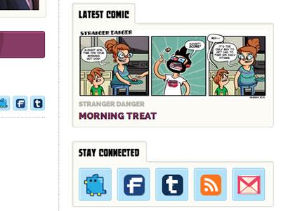 Thunderskull Press Site comic artist sidebar social media stay connected latest comic