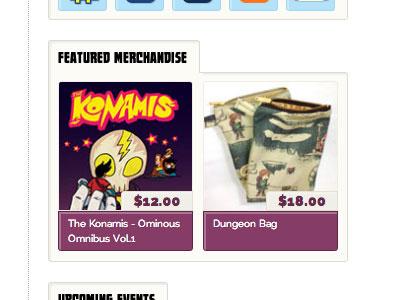 Thunderskull Press Site sidebar merchandise