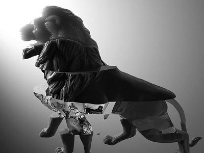 Lion roar 3d