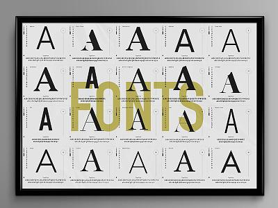 Favorite Fonts poster fonts