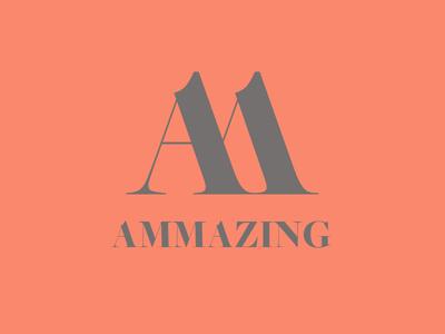 Ammazing Signet and Logotype startup ammazing signet logo