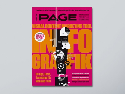 Page Cover – Info Graphic magazine cover pantone info graphic