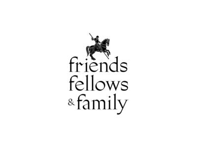friends, fellows & family logo branding design