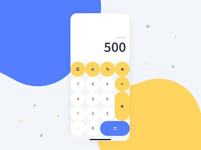 Daily UI Challenge 004 // Calculator App dailyui calculator userinterface ux adobexd ui design ui