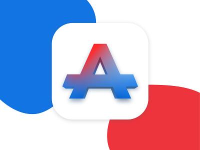 Atelier App Icon // 005 Daily UI Challenge 3d art 3d typography logo dailyui userinterface adobexd ui design ui