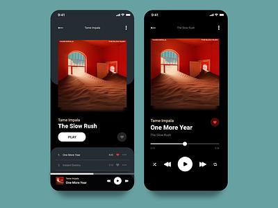 Music Player // 009 Daily UI tame impala music player music app music dailyui userinterface adobexd ui design ui