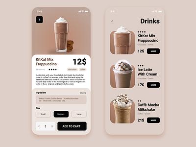 Online Coffee Shop App chocolate coffee shop shop coffee userinterface adobexd ui design ui