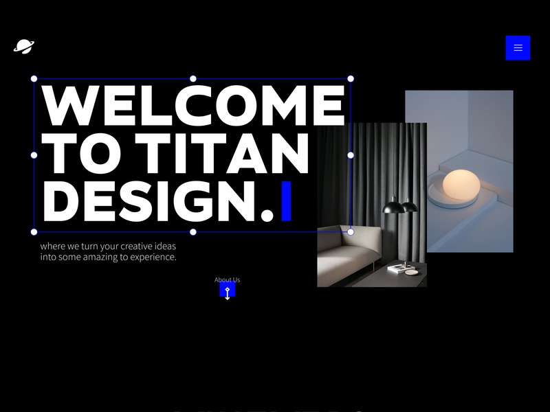 Titan Design agency design blue branding userinterface adobexd ui design ui