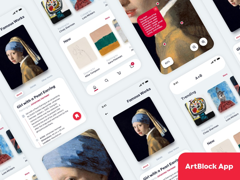 ARTBLOCK App art direction painting painter artwork art ux userinterface adobexd ui design ui
