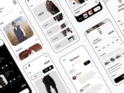 aassttiinn app flat brand design fashion brand cloths fashion branding userinterface adobexd ui design ui