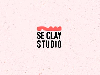 Se Clay Studio Final 14 potter three clay pottery typography logo vector illustration