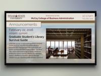 Texas State University Digital Signage