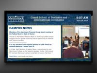Merrimack College Digital Signage