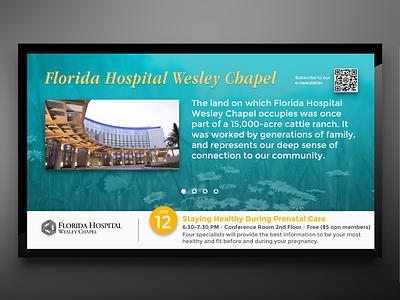 Florida Hospital Wesley Chapel Digital Signage image hospital calendar information display communication digital signage