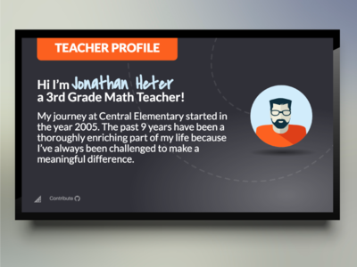Teacher Profile Template