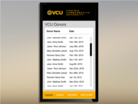 Virginia Commonwealth University Donor Wall