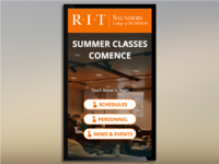 Rochester Institute of Technology Digital Signage