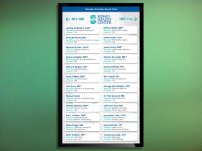 Sidney Health Center Directory