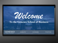 Geneseo School of Business Interactive Donor Wall