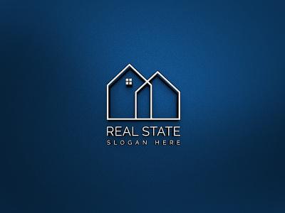 Real State Logo simple ai simple design unique logo modern professional logo creative logos logotype logodesign web professional company flat design branding minimal logo illustrator graphic design