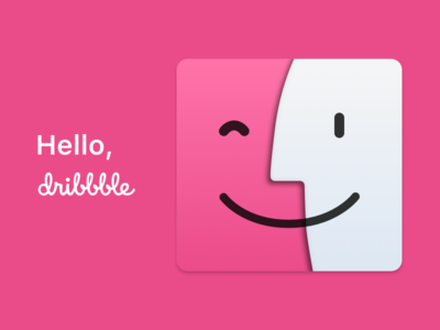 First Shot – Hello, Dribbble macos macintosh happy-mac finder dribbble first-shot mac apple design icon