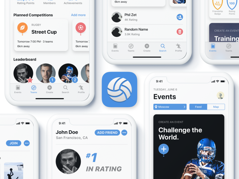 CrowdFit App icon social sport dribbble design app apple
