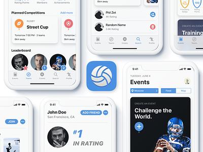 CrowdFit App icon social sport dribbble design app apple