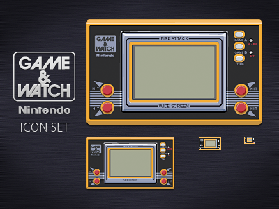 Game & Watch Icon Set nintendo icon free game  watch fire attack