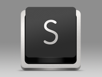 Sublime Text Replacement Icon - Dark version