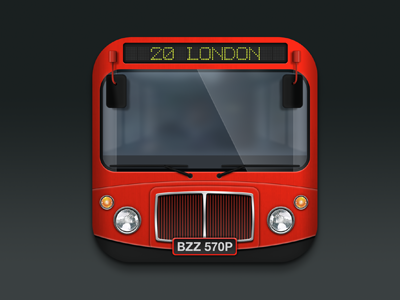 BusBuzz Icon ios icon bus uk london