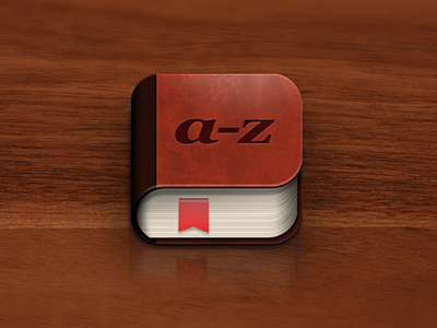 iPhone book icon iphone book wood brown bookmark