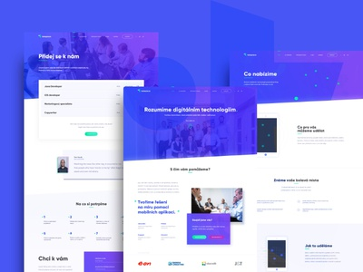 Takeplace webdesign list mobile page pages typography gradient purple blue design webdesign website web