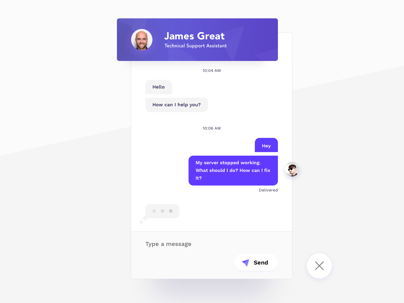 Direct Messaging - Daily UI #013 app concept app customer service customer care customer typing chat bot chat box chat app chat live chat livechat messanger message app message direct messaging direct message 013 dailyui