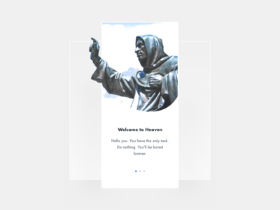 Onboarding - Daily UI #023 god jesus religion mobile app experience iphone x app app dashboard app concept mobile heaven iphone xs mobile app design mobile app app onboarding 023 dailyui